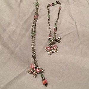 Brighton Pink & Green Butterfly Set